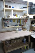 wedging table and tools
